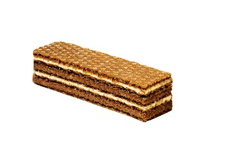 Cocoa wafle sheets crispy